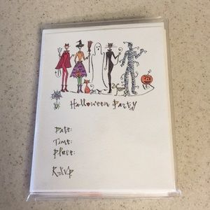 NWOT Halloween Party Invitations